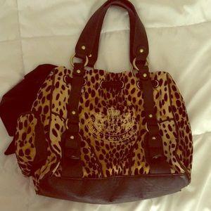 Juicy couture velour cheetah print purse